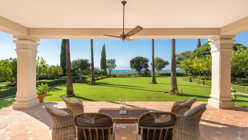Stunning views from a traditional style home in Marbella Hill Club