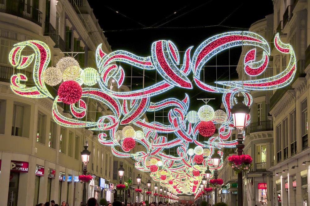 The lights of Malaga