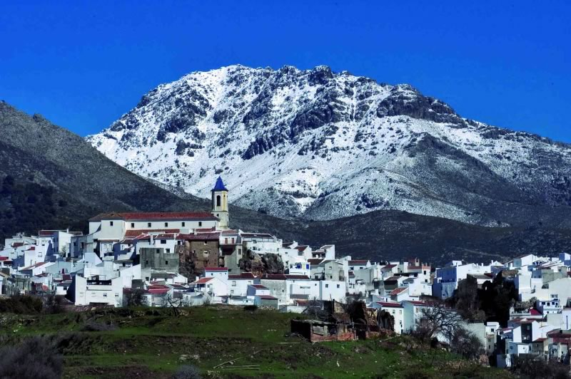 Snowy mountains in Marbella