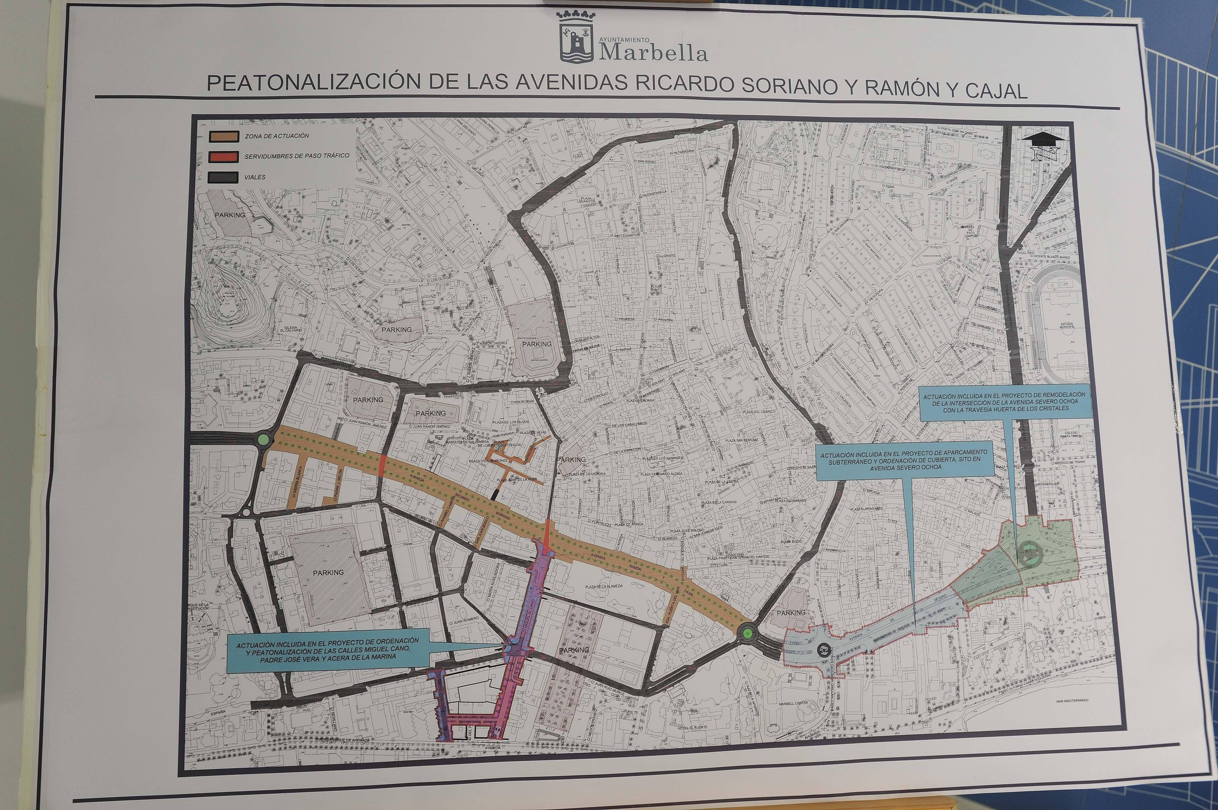 Plano de la peatonalización de Marbellalla
