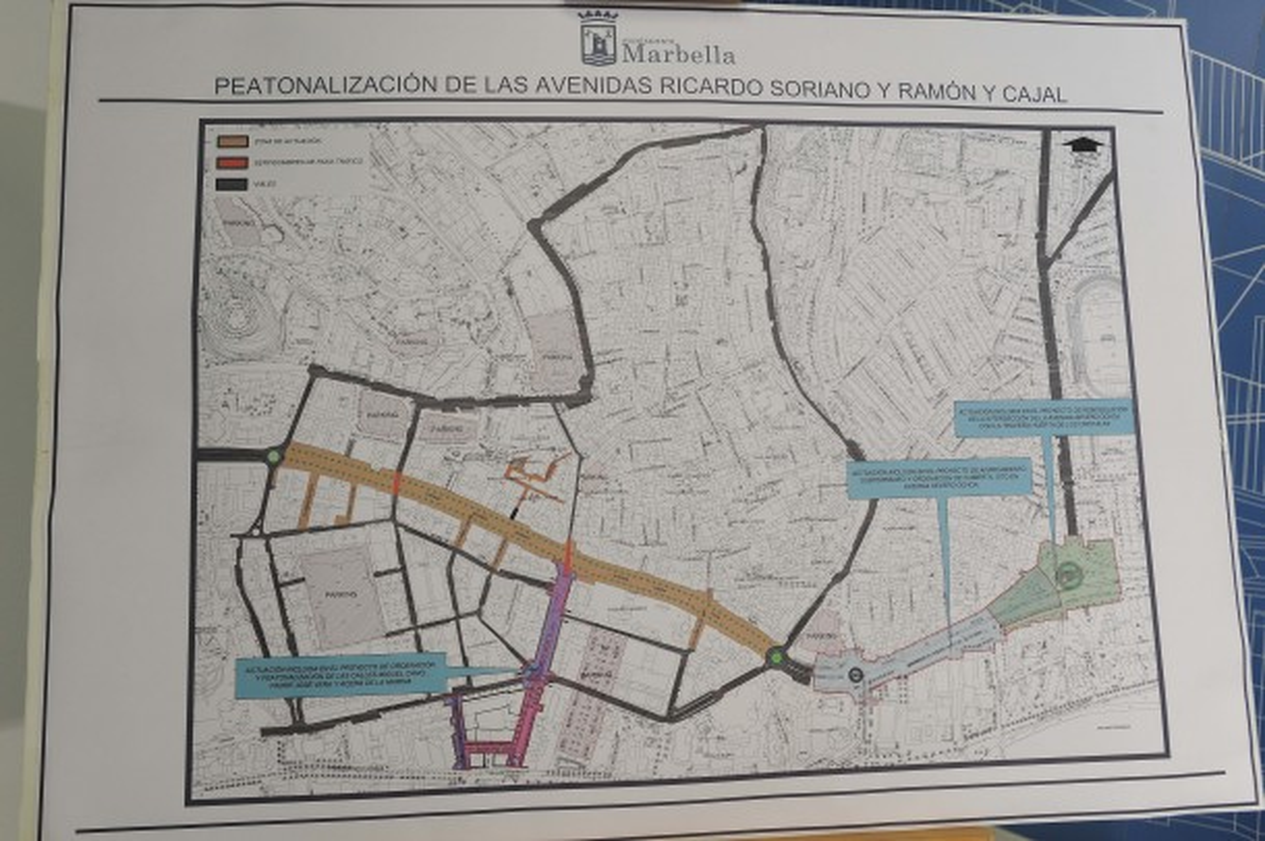 Car Free Marbella Centre Map Plan