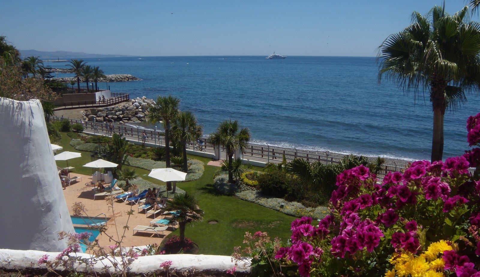 Vistas al mar desde una propiedad, Marbella