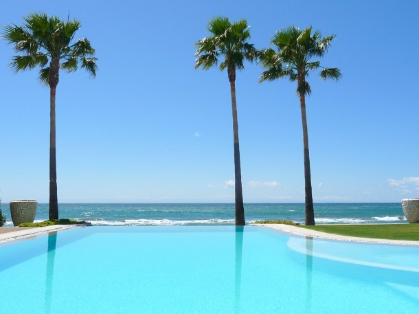 Marbella Sea View from a pool