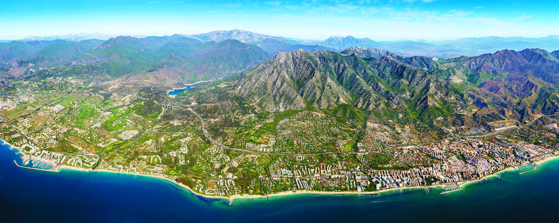 Vista aerea de Marbella