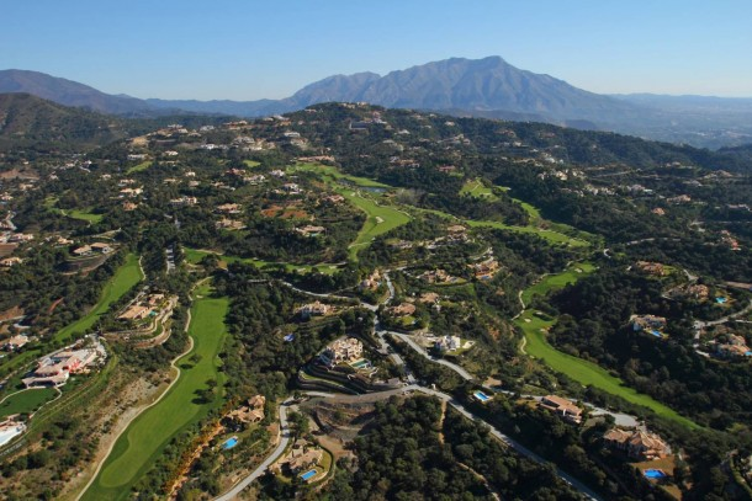 Aerial view La Zagaleta
