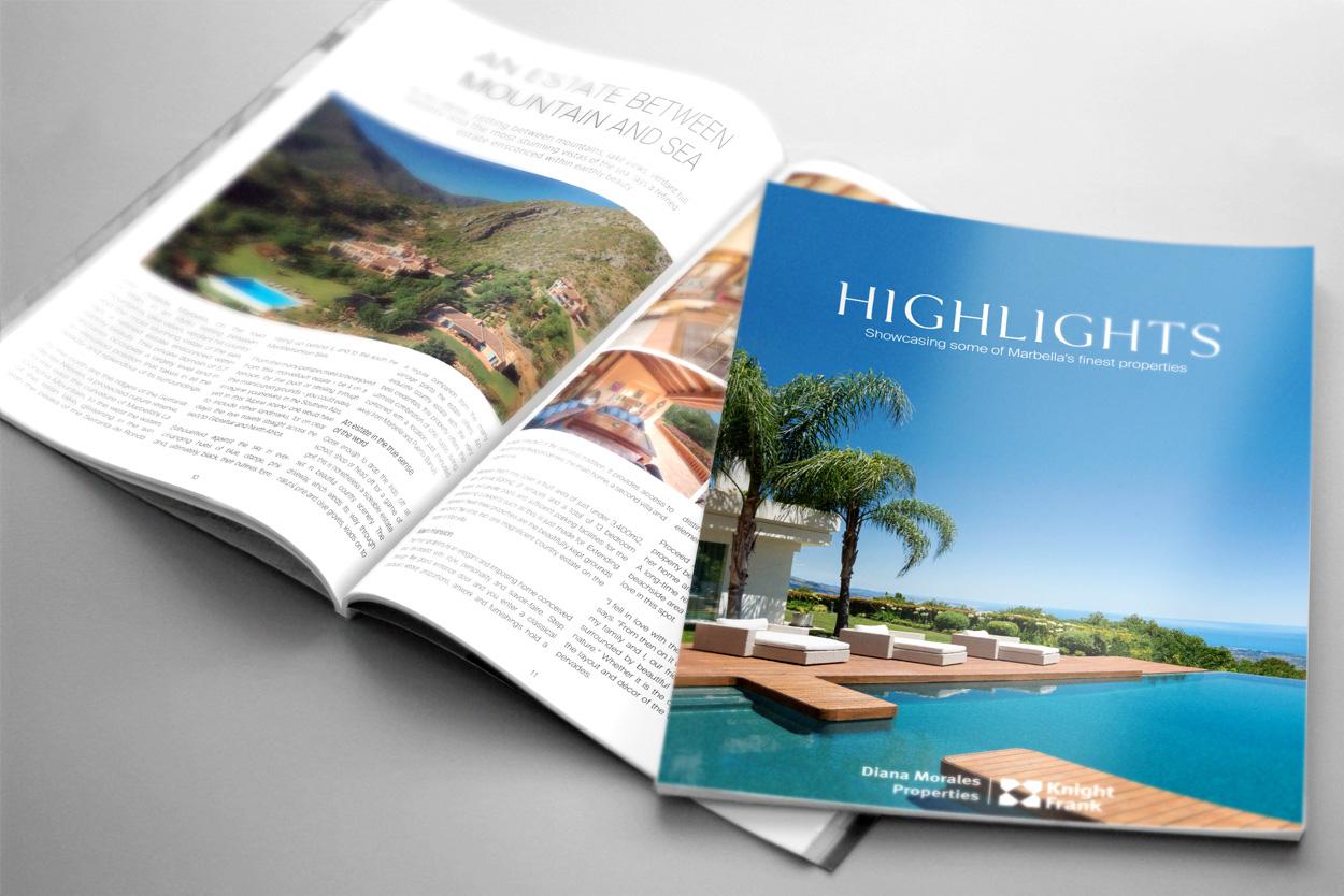 Nueva edici n de la revista inmobliaria highlights marbella - Diana morales inmobiliaria ...