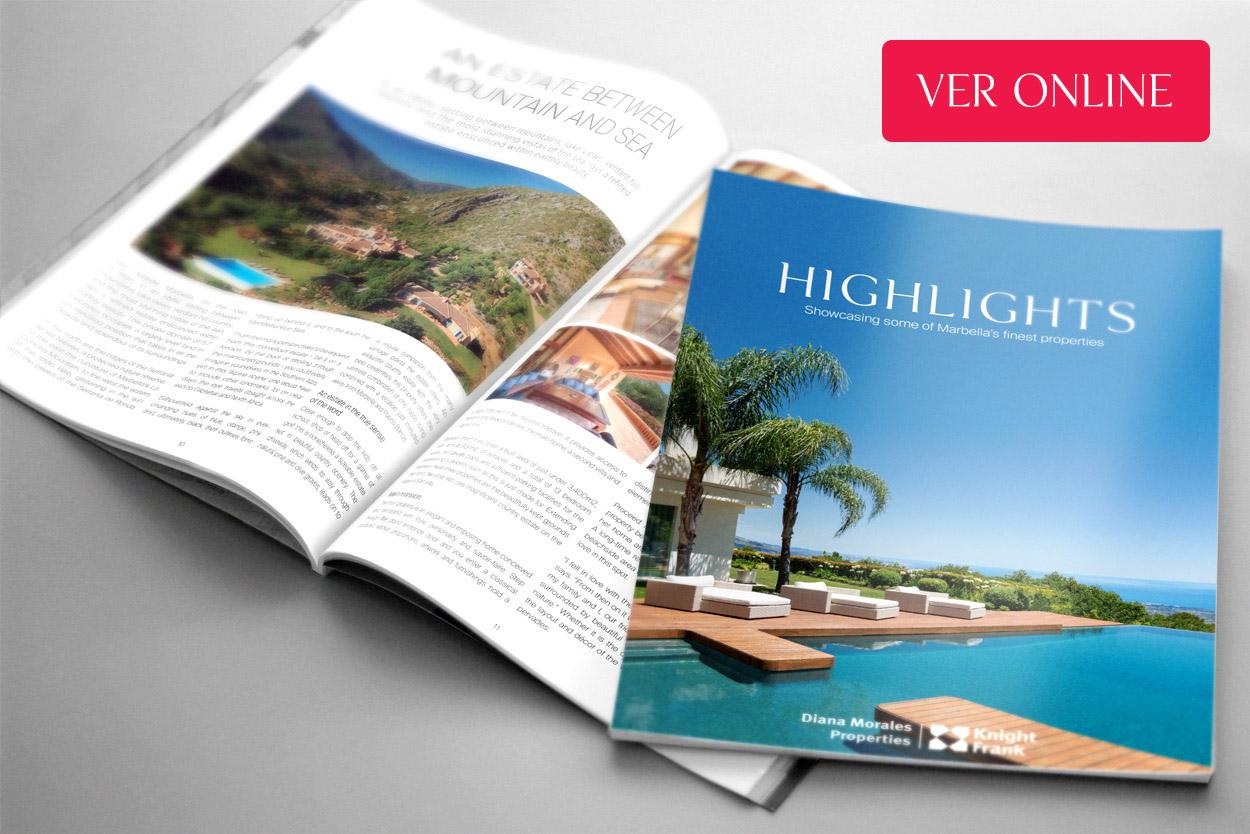 Nueva edición de la revista inmobliaria Highlights Marbella