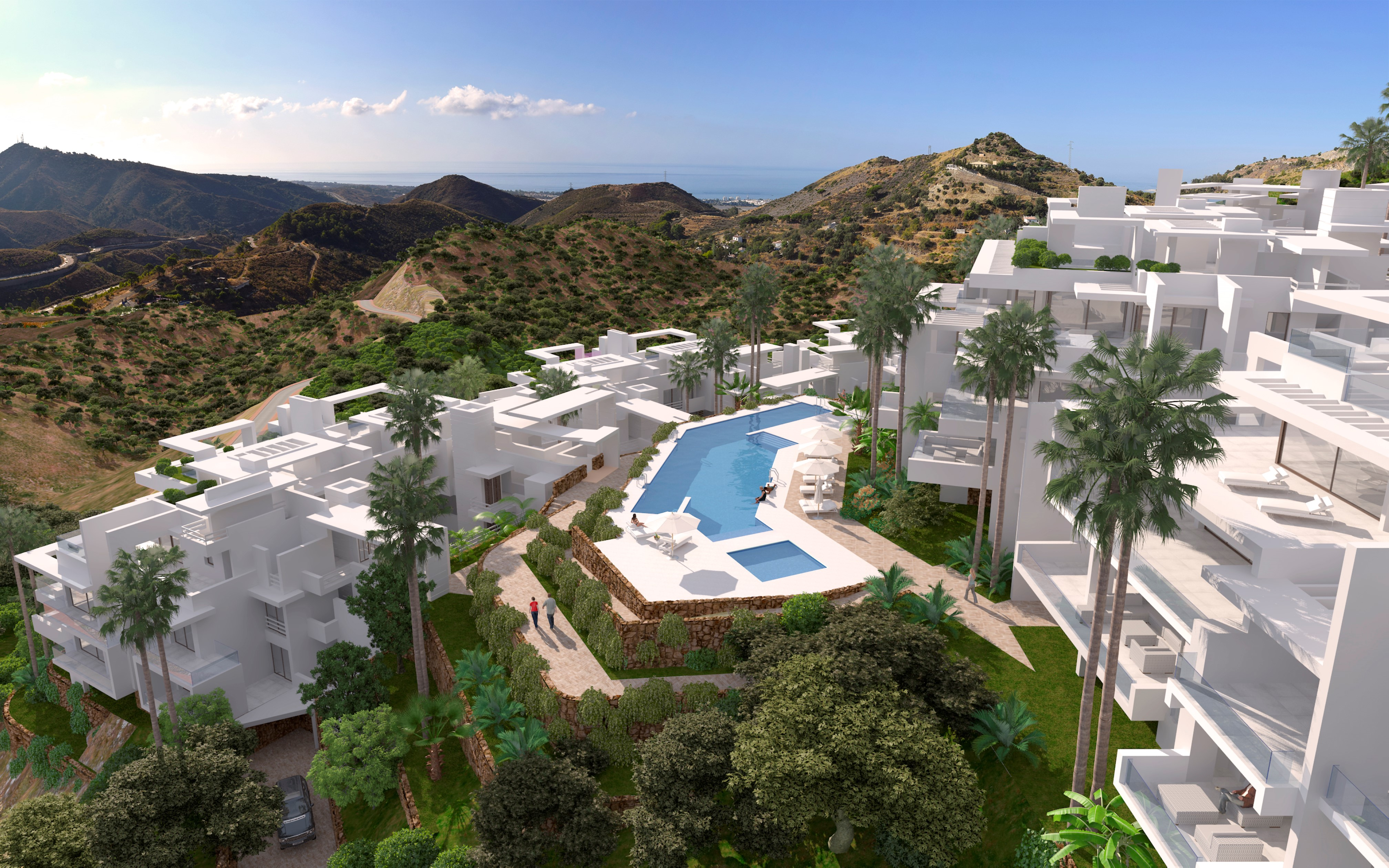 Brand new gated development at 5 minutes from Marbella