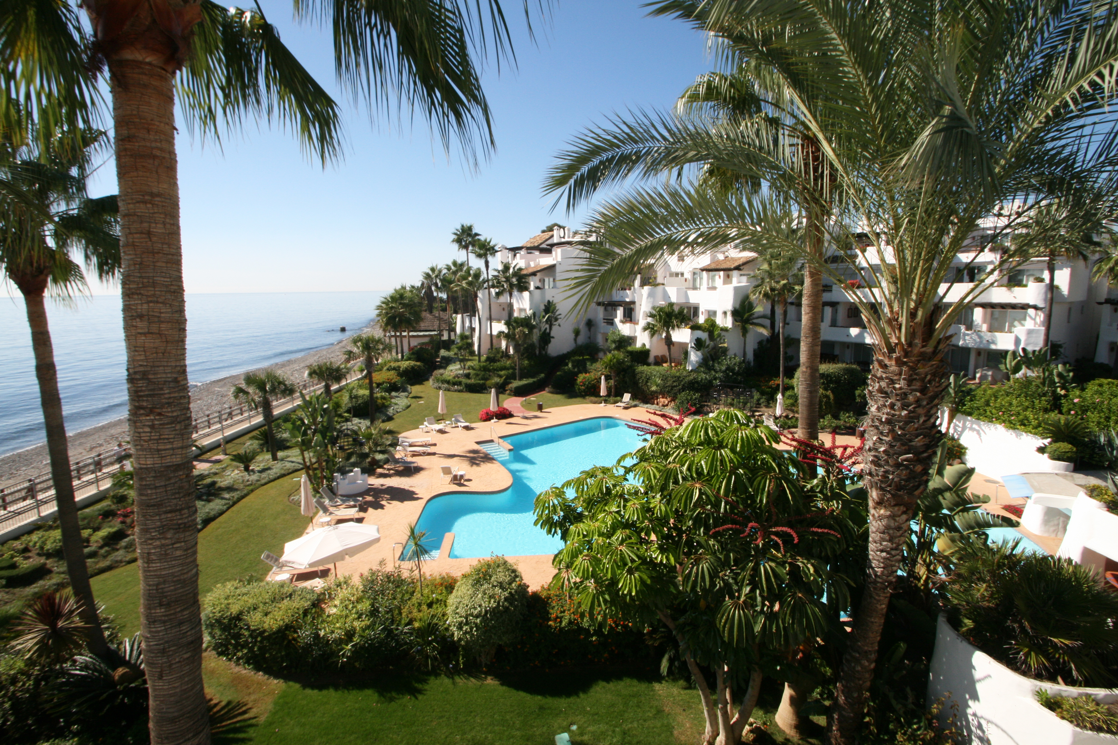 Beachside apartments in Marbella