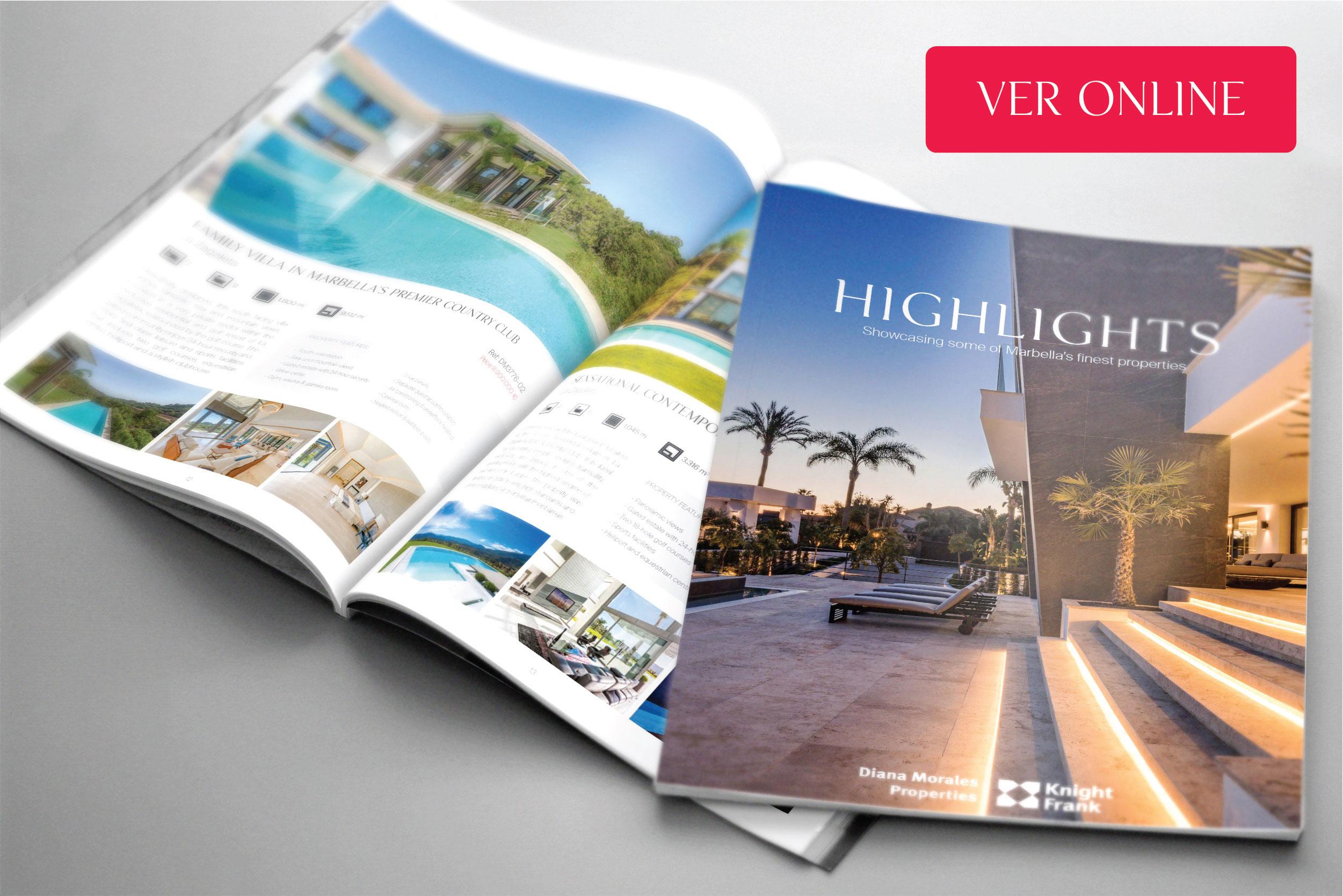 Disponible la edición 2017 de la revista inmobiliaria Highlights Marbella