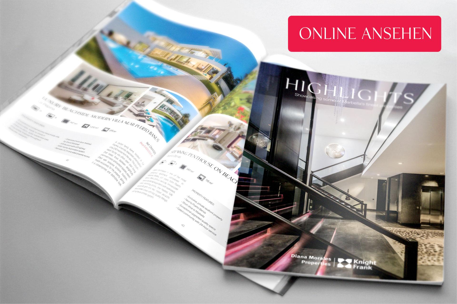 Neue ausgabe 2018 des highlights - das immobilienmagazin von Marbella