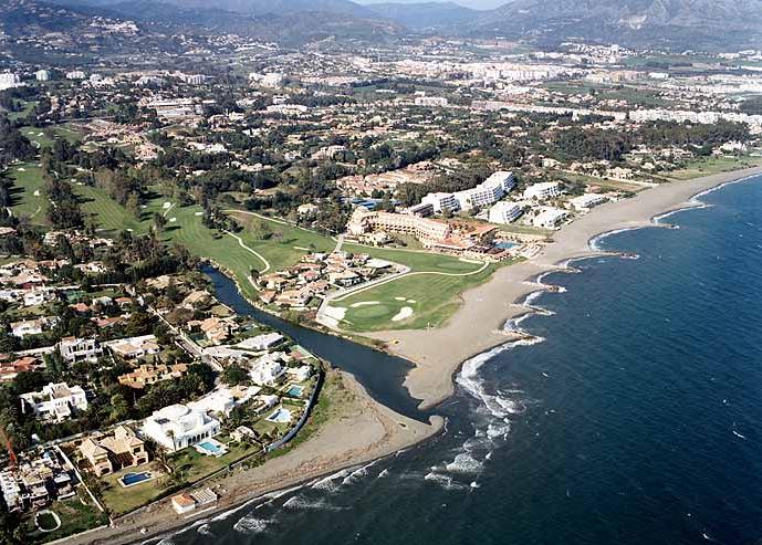 Guadalmina, zona de lujo al oeste de Marbella