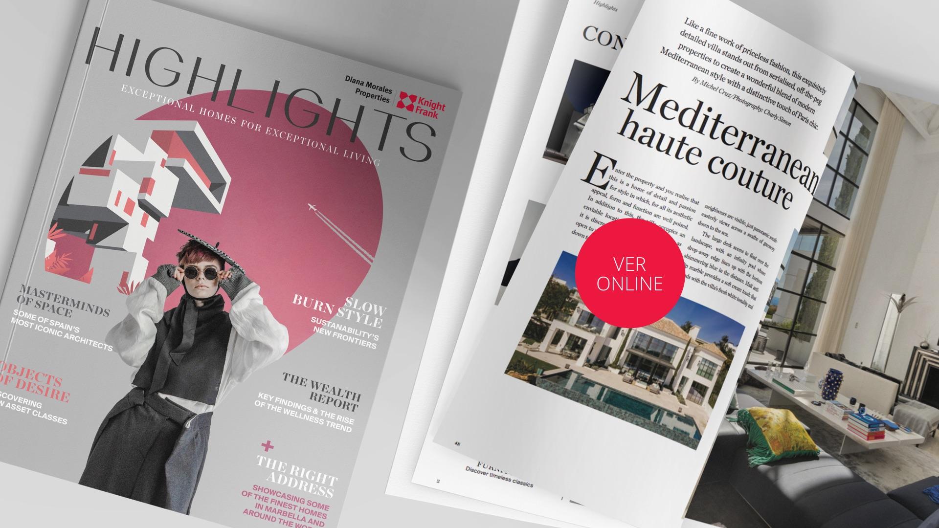 Hightlight 2020, revista inmobiliaria de lujo y estilo de vida de Marbella