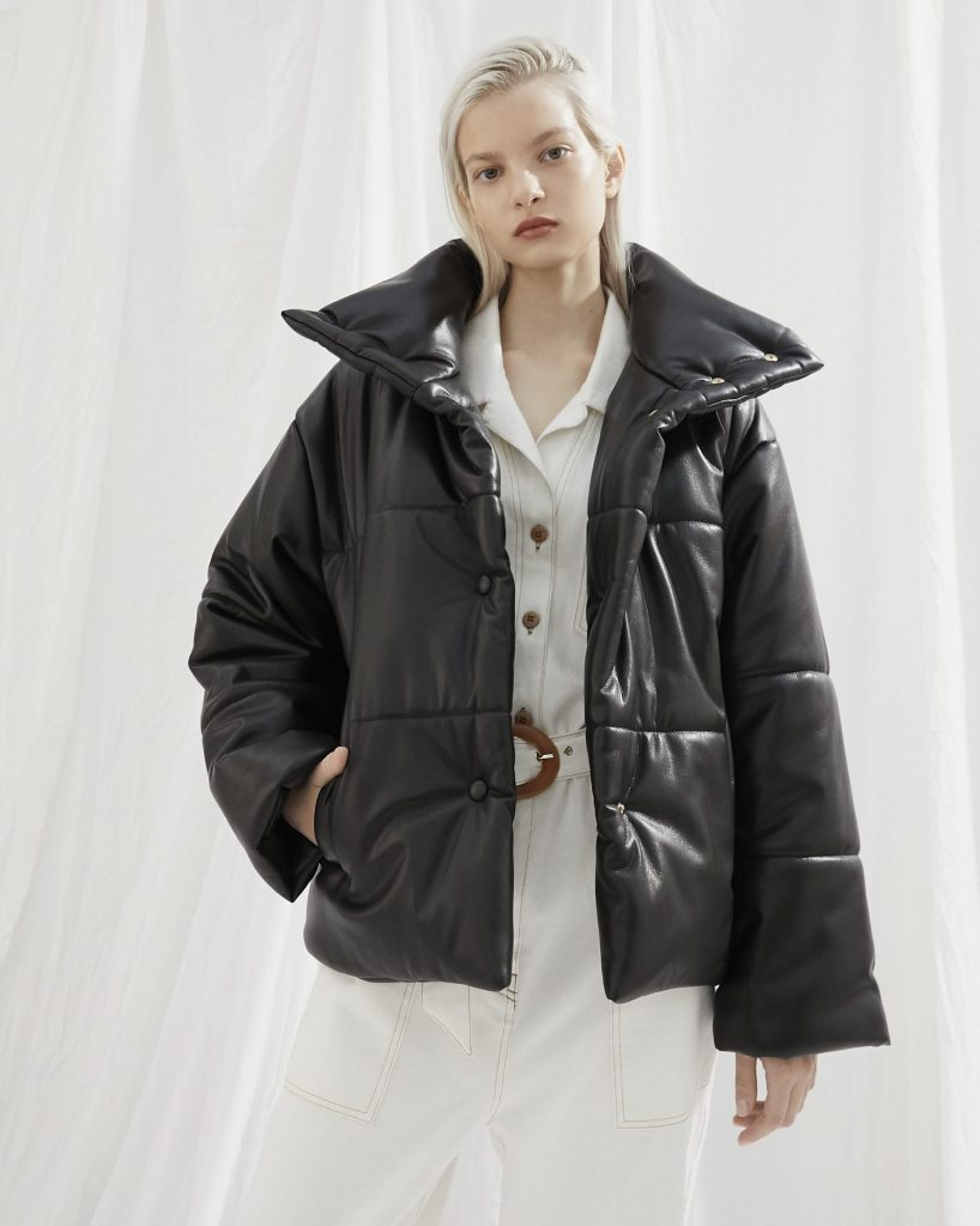 Nanushka signature Hide jacket