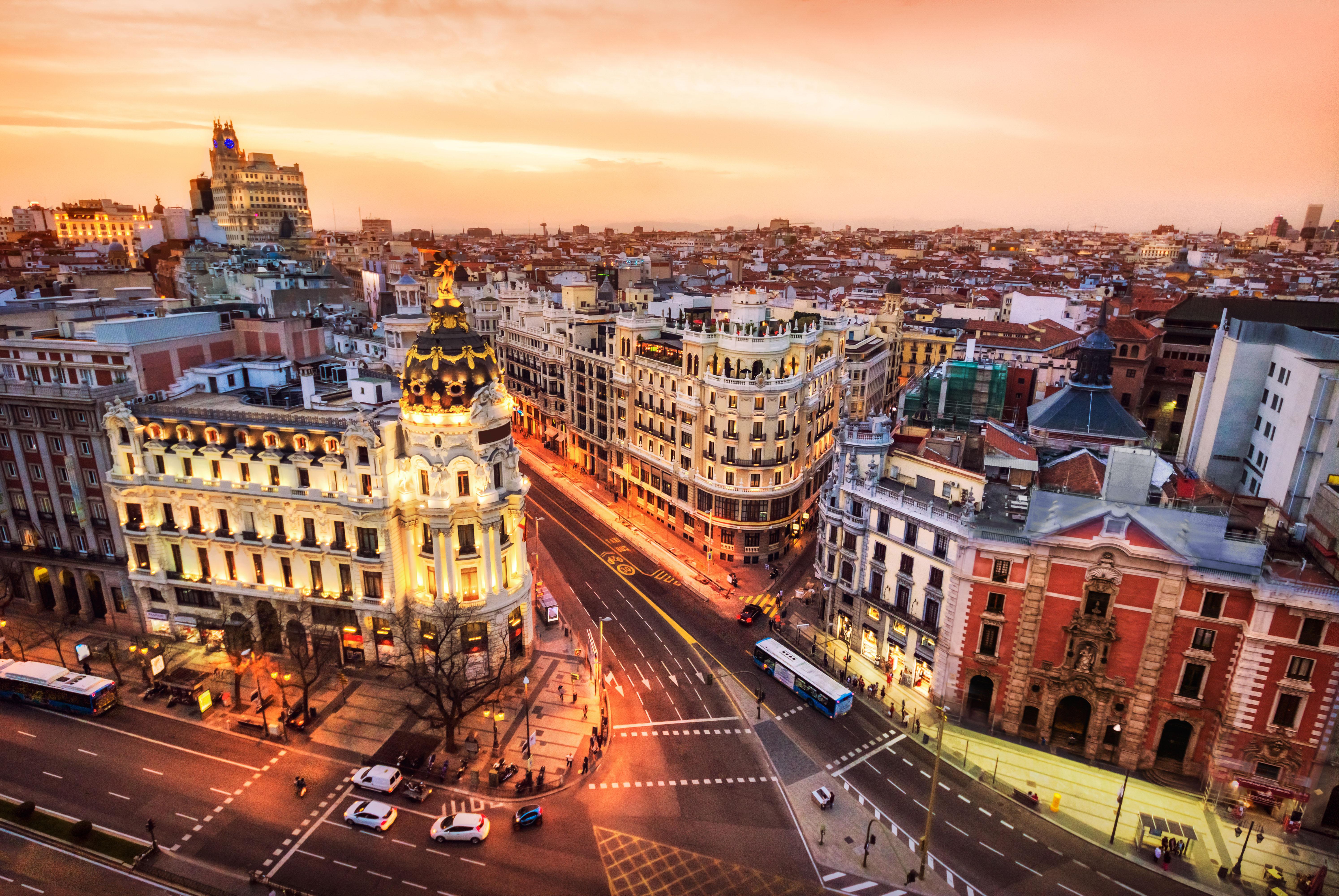 Vista aerea de Madrid desde el Circulo de Bellas artes