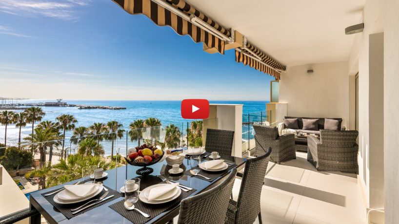 New video: Frontline beach apartment in Marbella town