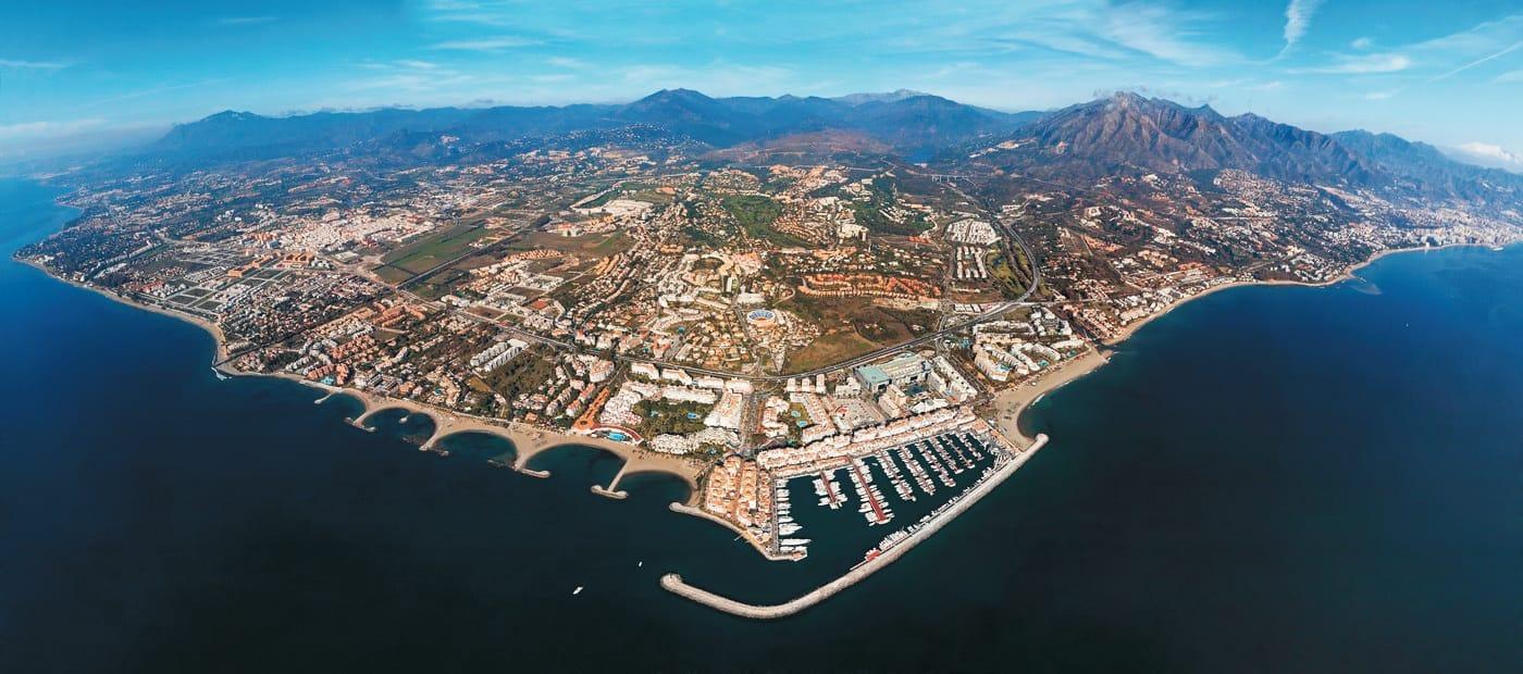 Línea de costa de Marbella, vista panorámica