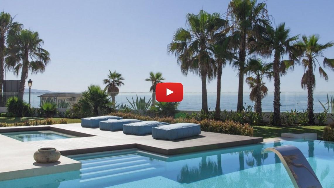 New video: Unique modern frontline beach villa next to Puerto Banus