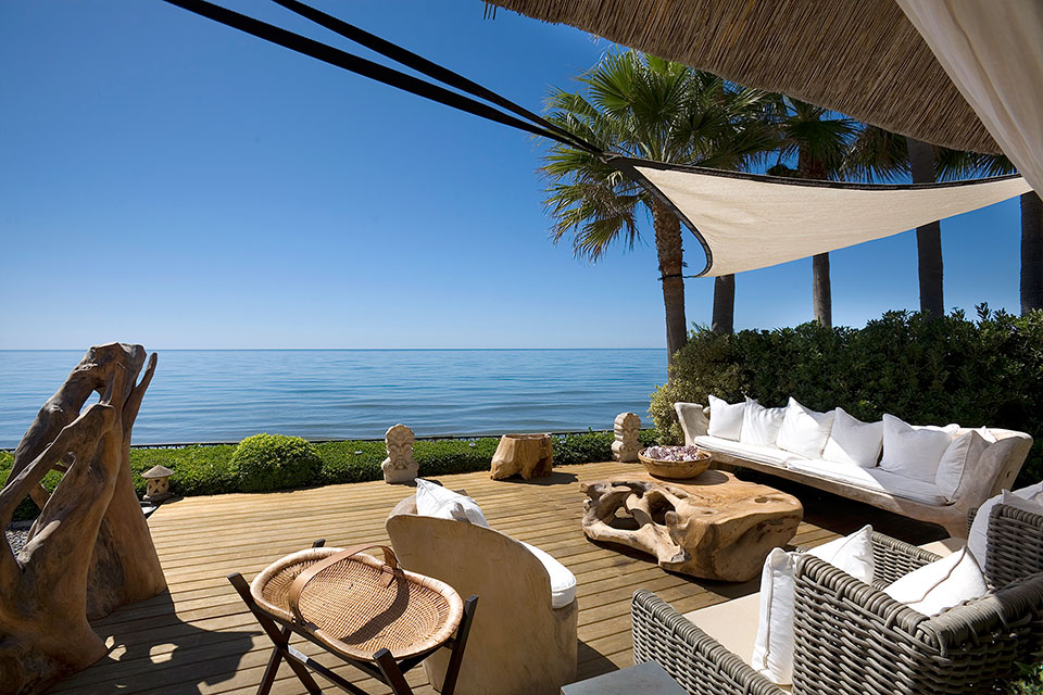 first line beach property in marbella costa del
